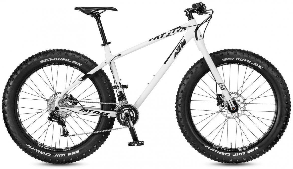 Велосипед горный KTM Fat Flea 2017, цвет: белый, рама 21, колесо 26281452