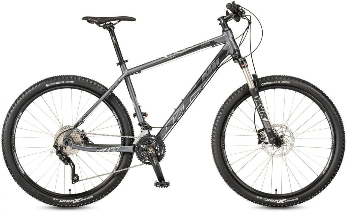 Велосипед горный KTM Ultra Flite 27 2017, цвет: серый, рама 17, колесо 27,5281594