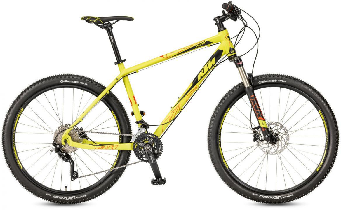 Велосипед горный KTM Ultra Flite 27 2017, цвет: желтый, рама 19, колесо 27,5281599