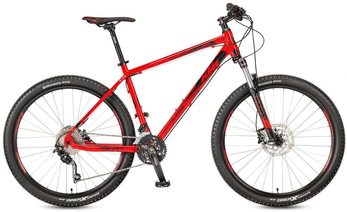 Велосипед горный KTM Ultra Fire 27 2017, цвет: красный, рама 19, колесо 27,5281606