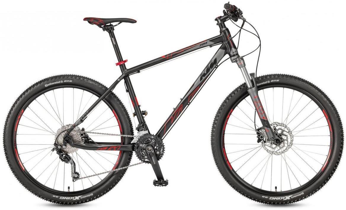 Велосипед горный KTM Ultra Fire 27 2017, цвет: черный, рама 21, колесо 27,5281611