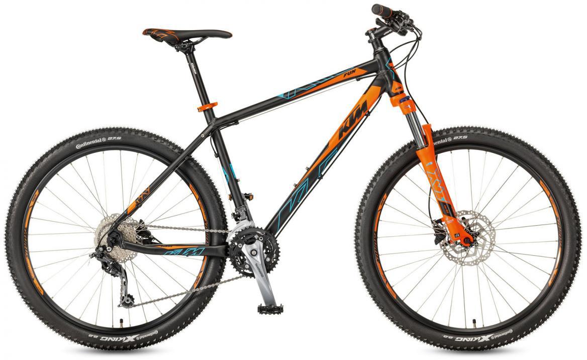 Велосипед горный KTM Ultra Fun 27 2017, цвет: черный, рама 21, колесо 27,5281615
