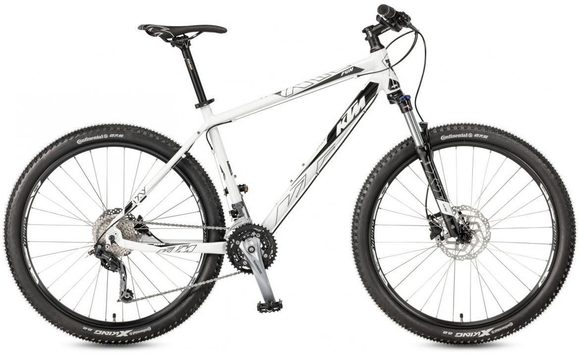 Велосипед горный KTM Ultra Fun 27 2017, цвет: белый, рама 17, колесо 27,5281617