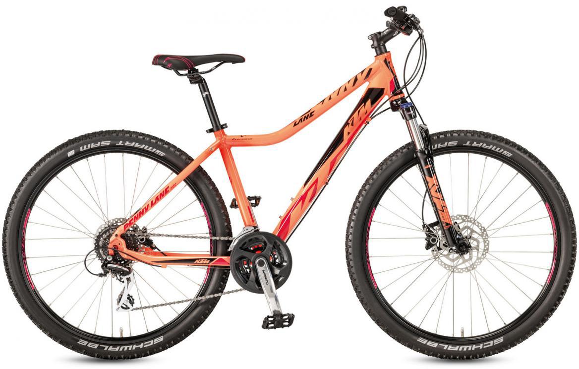 Велосипед горный KTM Penny Lane 27.24 Disc H SD 2017, цвет: оранжевый, рама 18,5, колесо 27,5281634