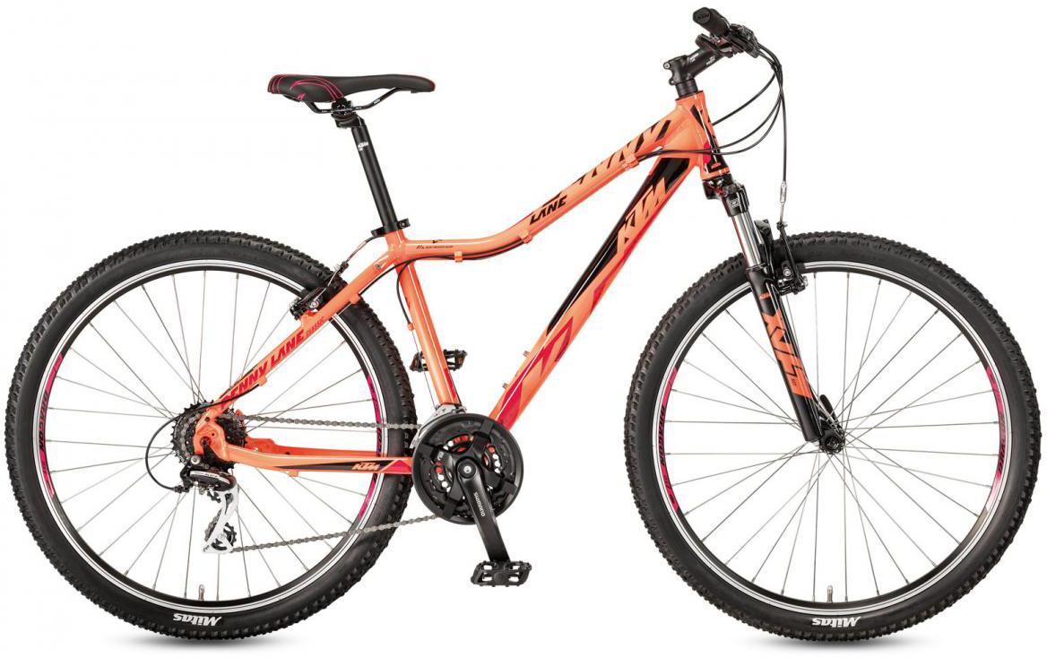 Велосипед горный KTM Penny Lane 27.24 Classic SD 2017, цвет: оранжевый, рама 16,5, колесо 27,5281657