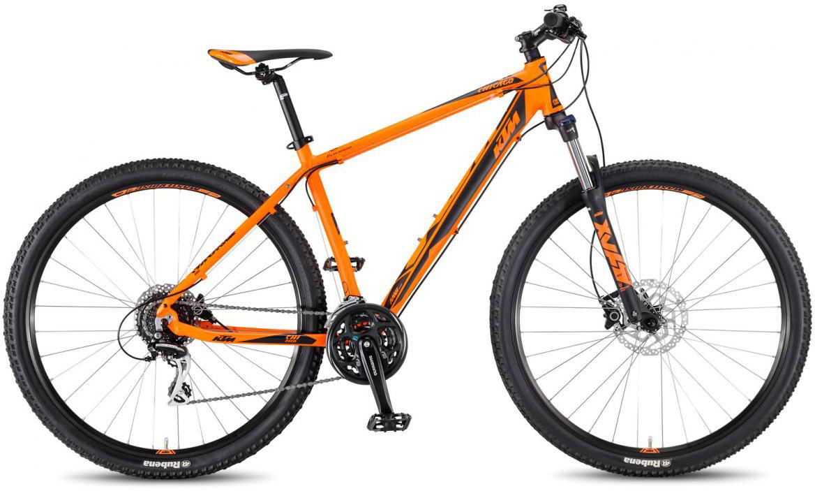 Велосипед горный KTM Chicago 29.24 Disc H 2017, цвет: оранжевый, рама 21, колесо 29281665