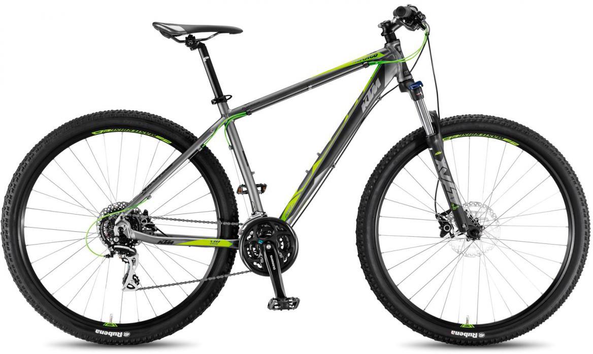 Велосипед горный KTM Chicago 29.24 Disc H 2017, цвет: серый, рама 21, колесо 29281669