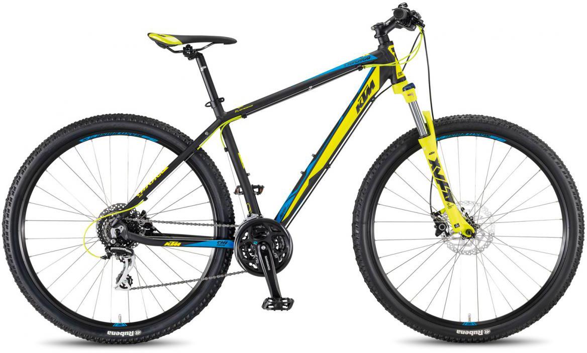 Велосипед горный KTM Chicago 29.24 Disc H 2017, цвет: черный, рама 15, колесо 29281670