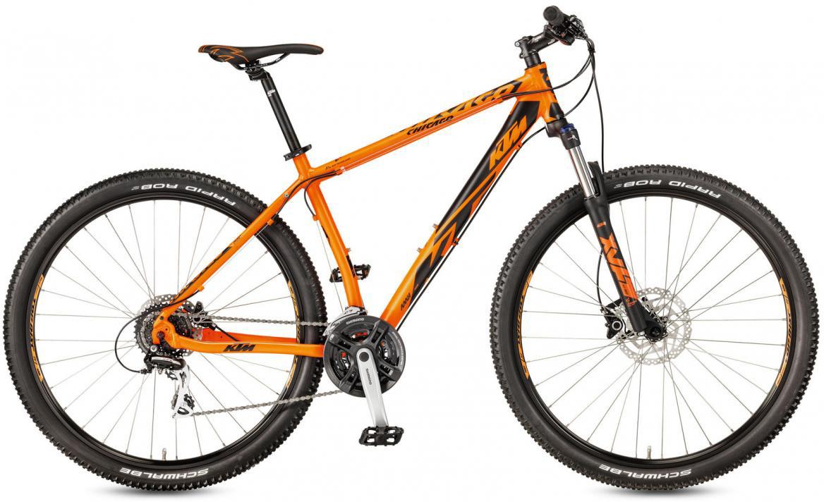 Велосипед горный KTM Chicago 29.24 Disc H RC 2017, цвет: оранжевый, рама 19, колесо 29281676