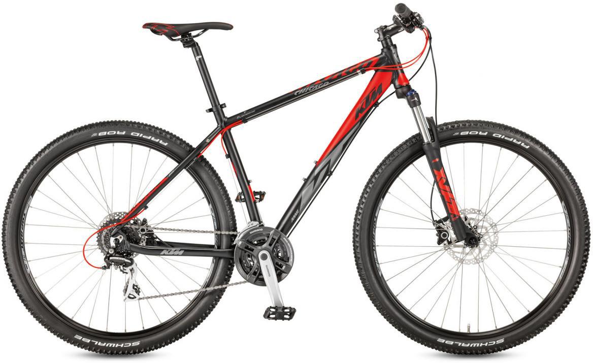 Велосипед горный KTM Chicago 29.24 Disc H RC 2017, цвет: черный, рама 15, колесо 29281678