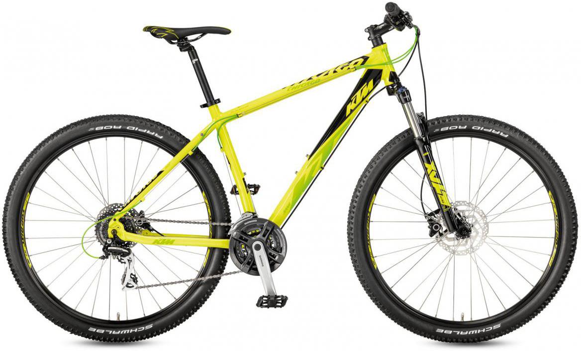 Велосипед горный KTM Chicago 29.24 Disc H RC 2017, цвет: желтый, рама 17, колесо 29281683
