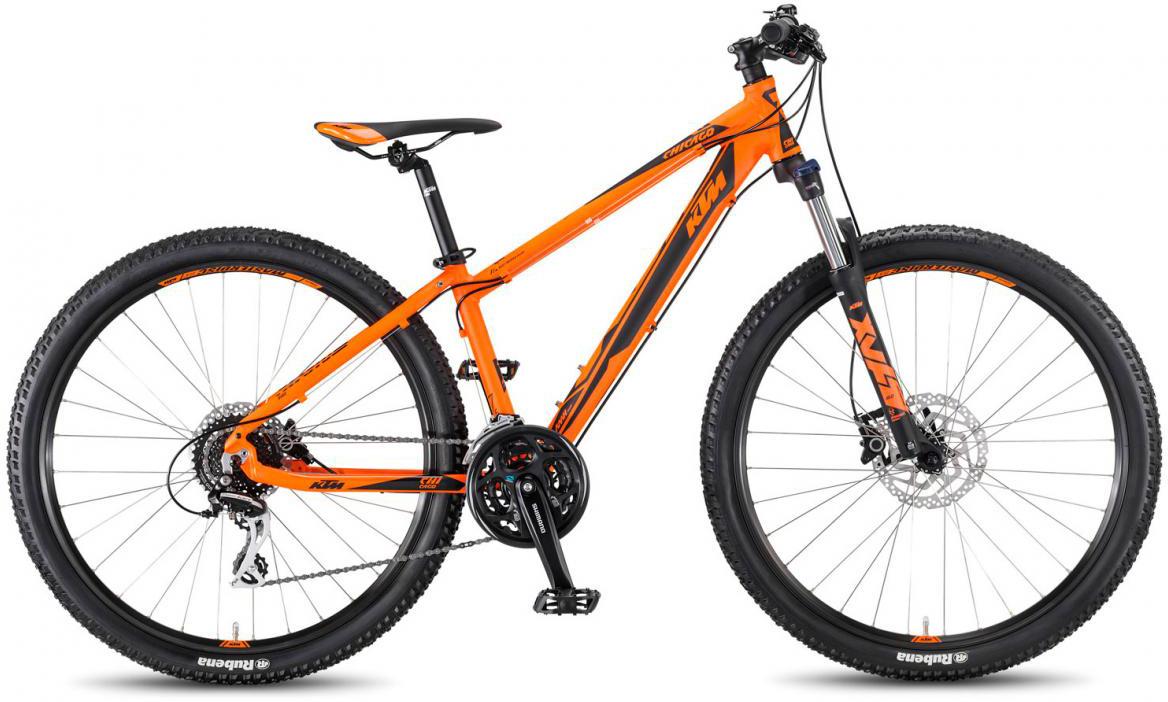 Велосипед горный KTM Chicago 27.24 Disc H 2017, цвет: оранжевый, рама 14, колесо 27,5281686