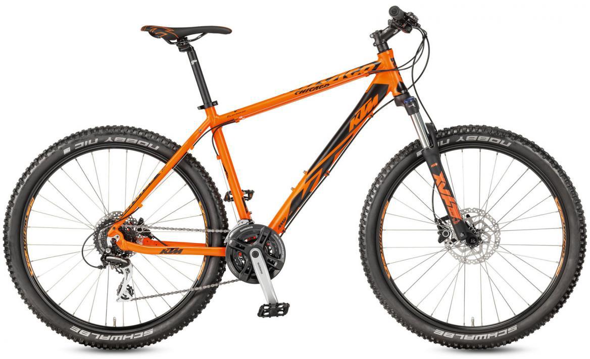 Велосипед горный KTM Chicago 27.24 Disc H RC 2017, цвет: оранжевый, рама 17, колесо 27,5281699