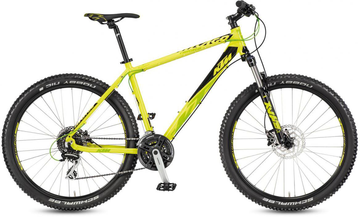 Велосипед горный KTM Chicago 27.24 Disc H RC 2017, цвет: желтый, рама 17, колесо 27,5281707