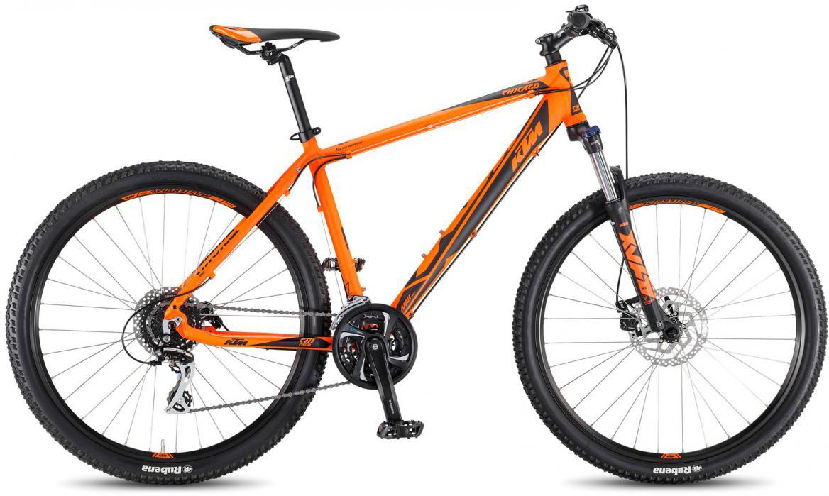Велосипед горный KTM Chicago 27.24 Disc M 2017, цвет: оранжевый, рама 17, колесо 27,5281711