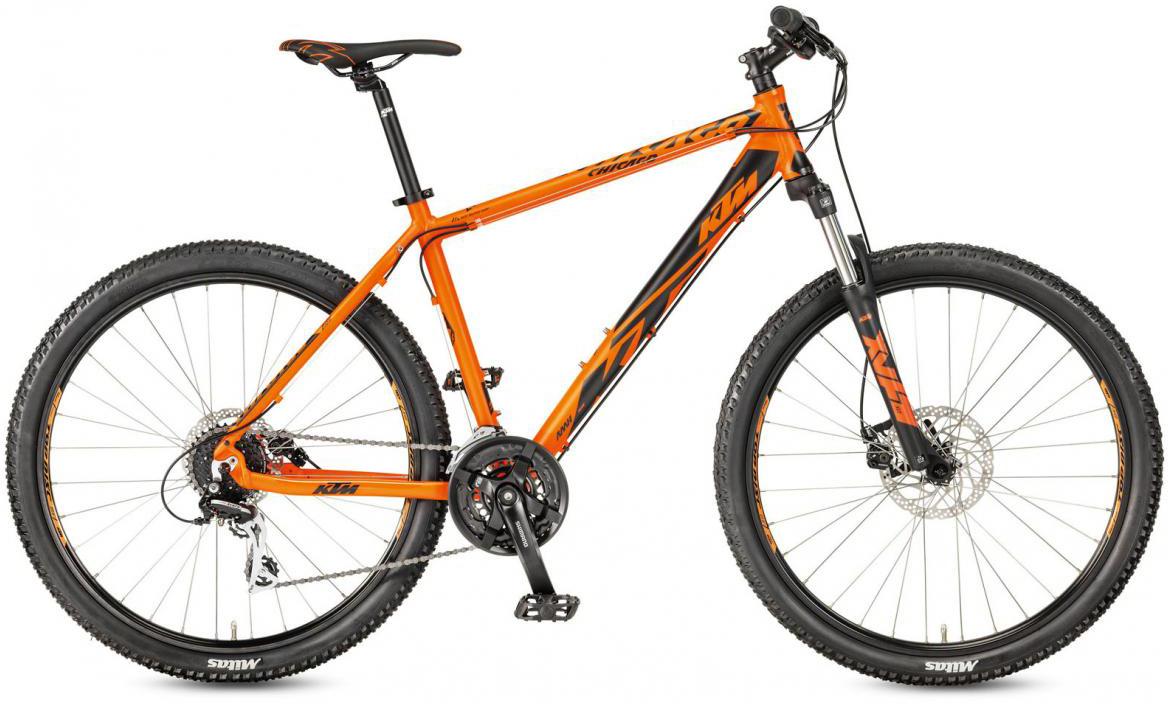 Велосипед горный KTM Chicago 27.24 Disc M RC 2017, цвет: оранжевый, рама 19, колесо 27,5281724