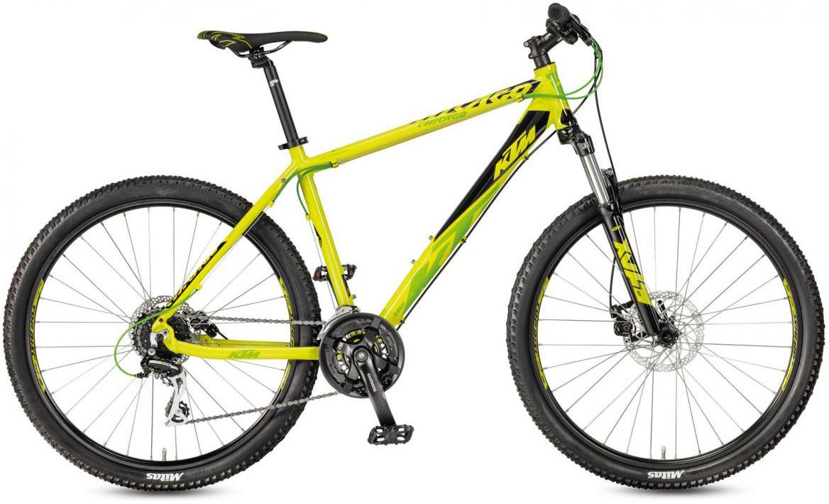 Велосипед горный KTM Chicago 27.24 Disc M RC 2017, цвет: желтый, рама 17, колесо 27,5281731