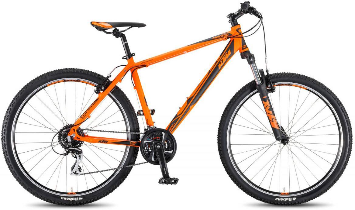 Велосипед горный KTM Chicago 27.24 Classic 2017, цвет: оранжевый, рама 19, колесо 27,5281736