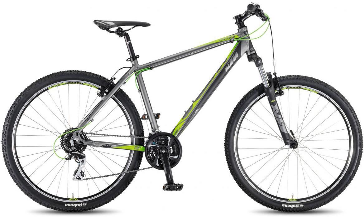 Велосипед горный KTM Chicago 27.24 Classic 2017, цвет: серый, рама 17, колесо 27,5281739