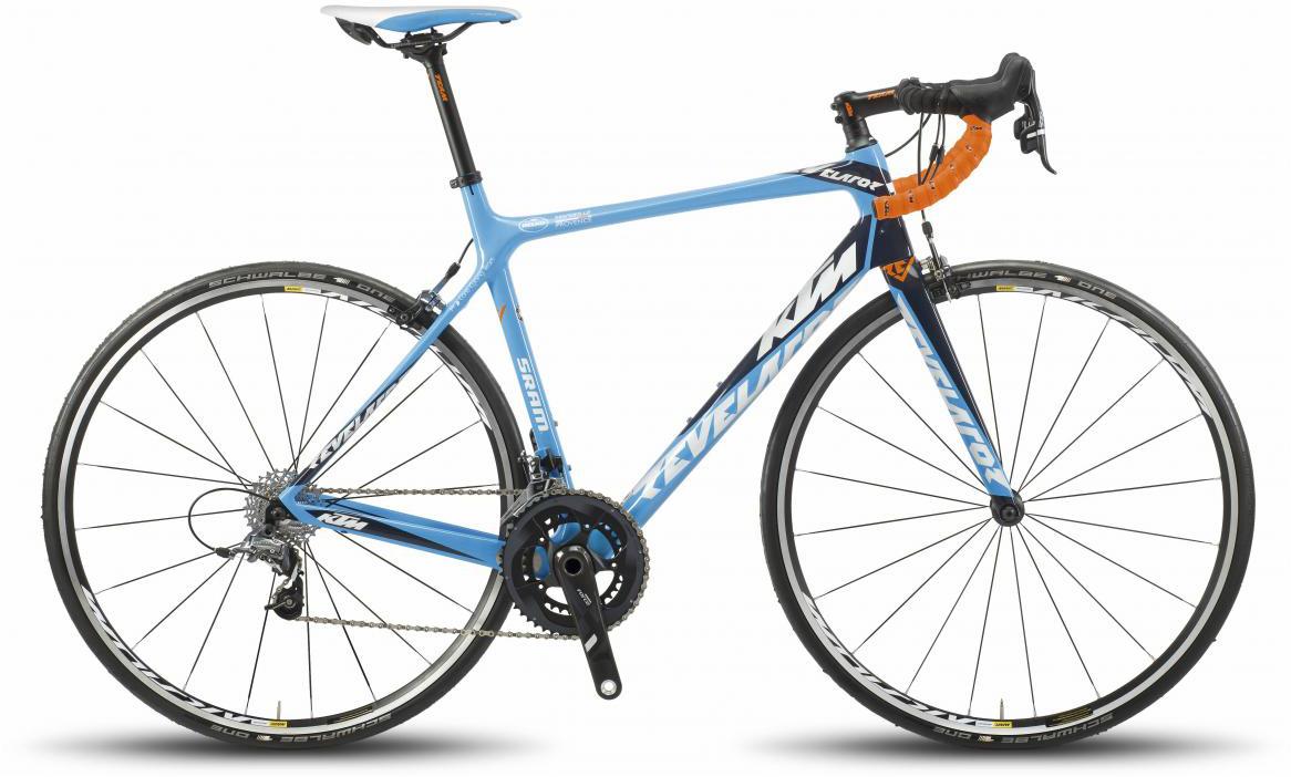 Велосипед шоссейный KTM Revelator M13 Force 2017, цвет: голубой, рама 22,5, колесо 28281798