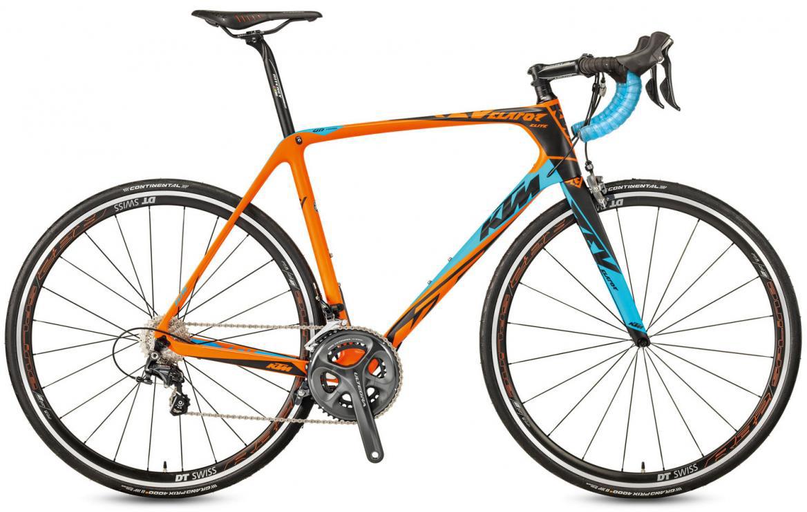 Велосипед шоссейный KTM Revelator Elite 2017, цвет: оранжевый, рама 22,5, колесо 28281810