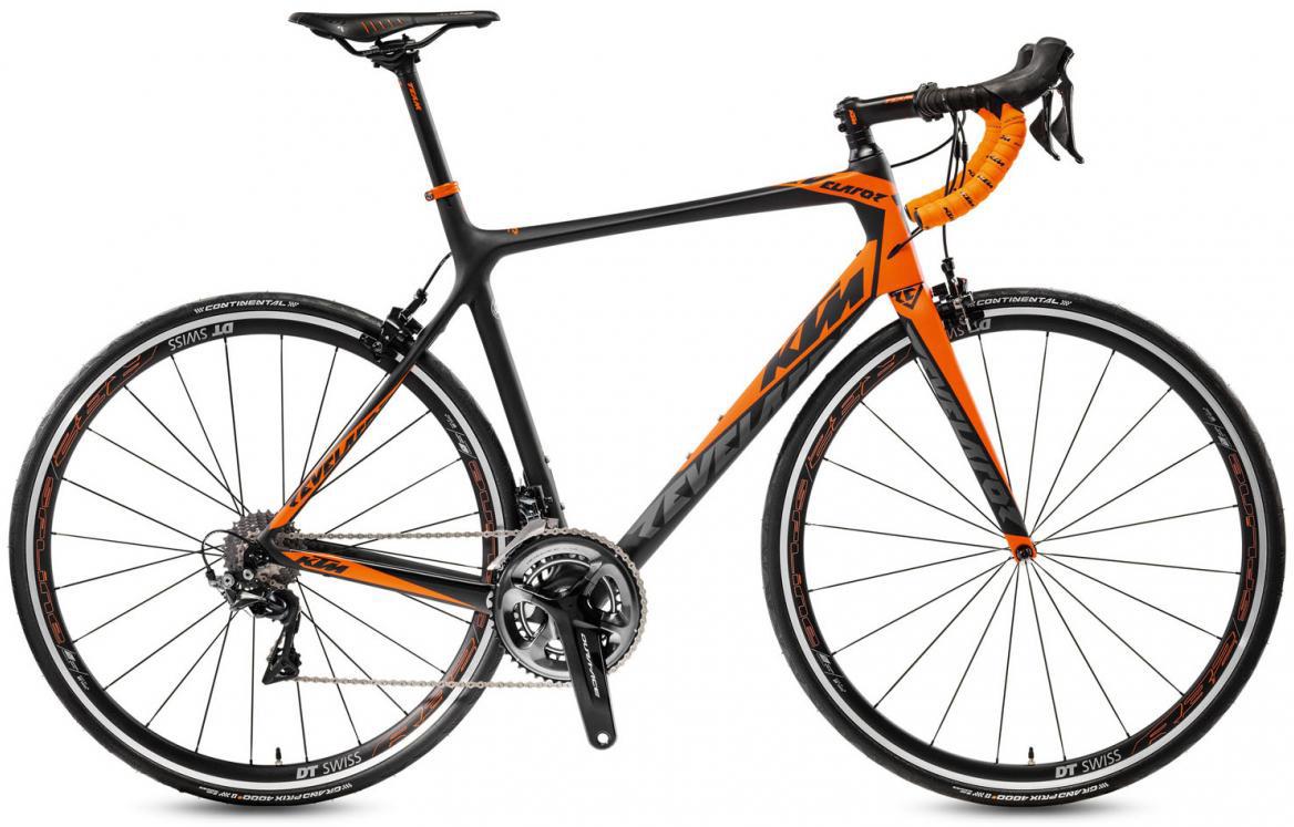 Велосипед шоссейный KTM Revelator 6000 2017, цвет: черный, рама 19,5, колесо 28281812