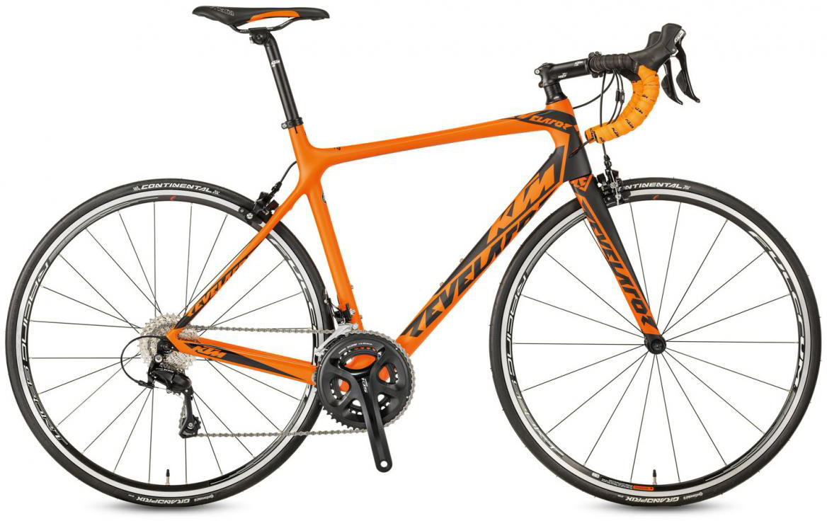 Велосипед шоссейный KTM Revelator 3500 2017, цвет: оранжевый, рама 21,5, колесо 28281834
