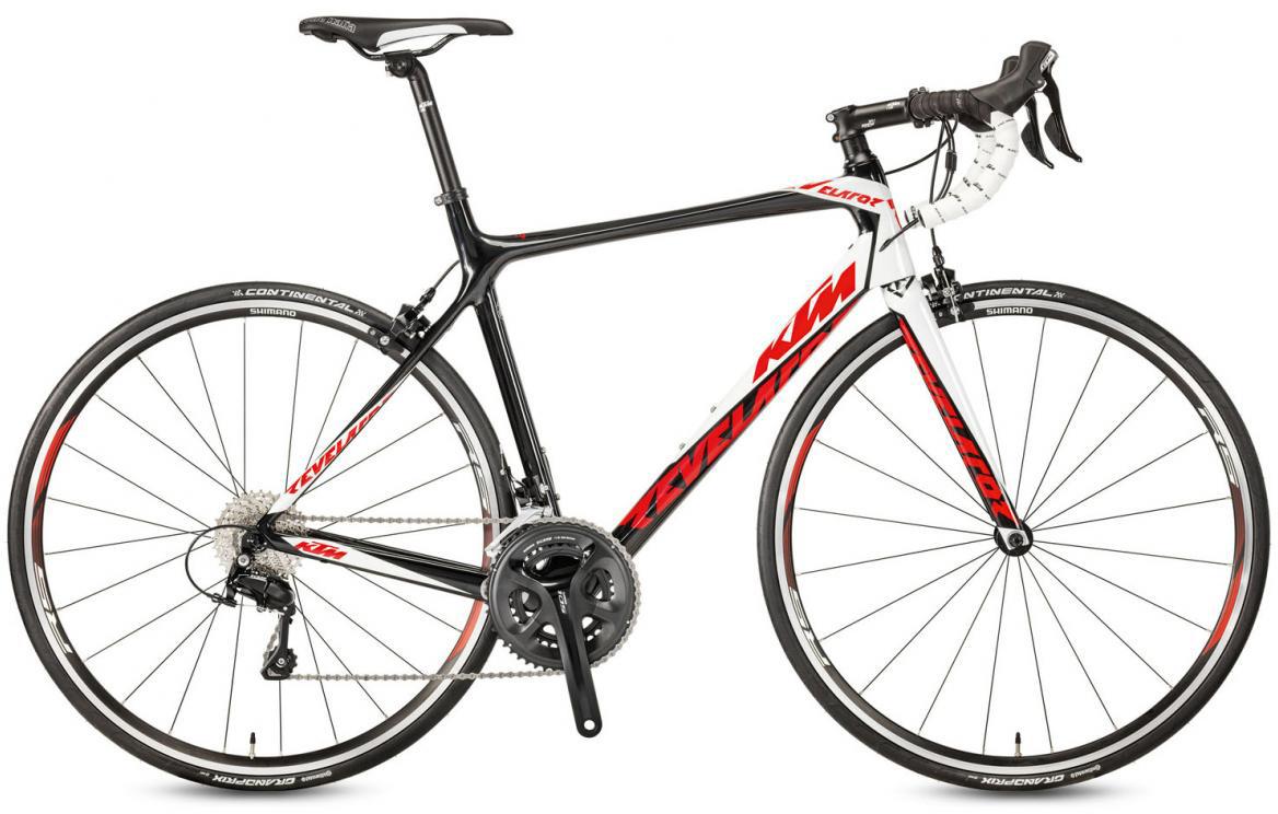 Велосипед шоссейный KTM Revelator 3300 2017, цвет: черный, рама 21,5, колесо 28281839