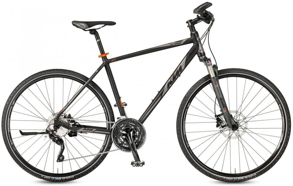 Велосипед городской KTM Life Action 2017, цвет: черный, рама 20, колесо 28281877