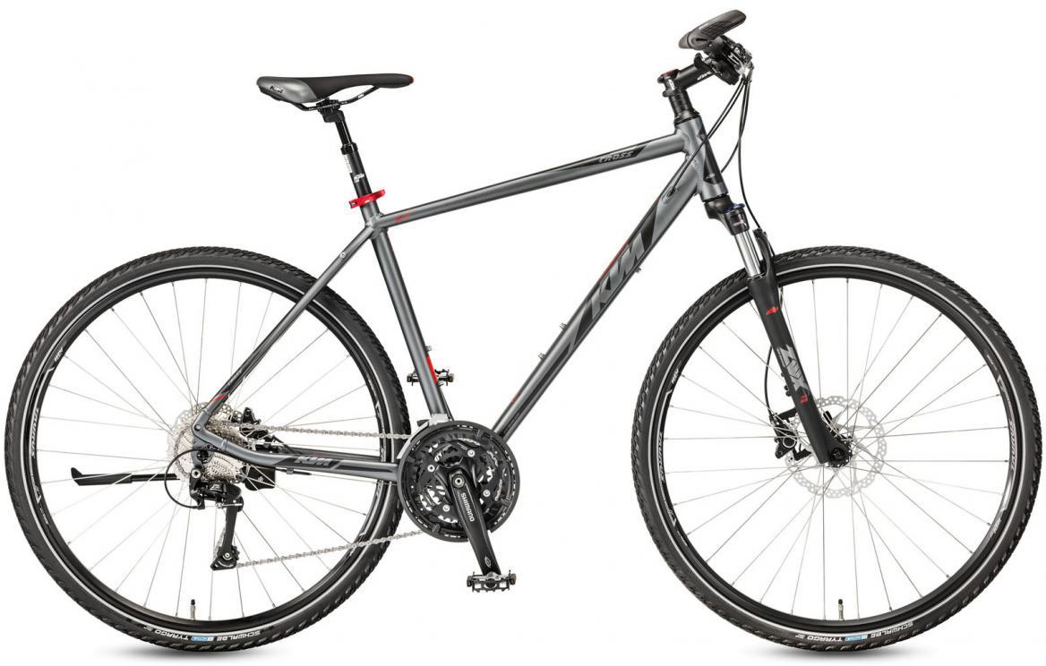 Велосипед городской KTM Life Cross 2017, цвет: серый, рама 22, колесо 28281884