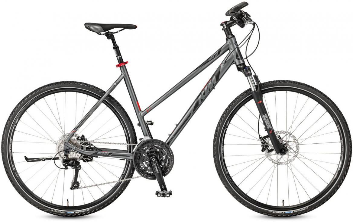 Велосипед городской KTM Life Cross Trapez 2017, цвет: серый, рама 17, колесо 28281886