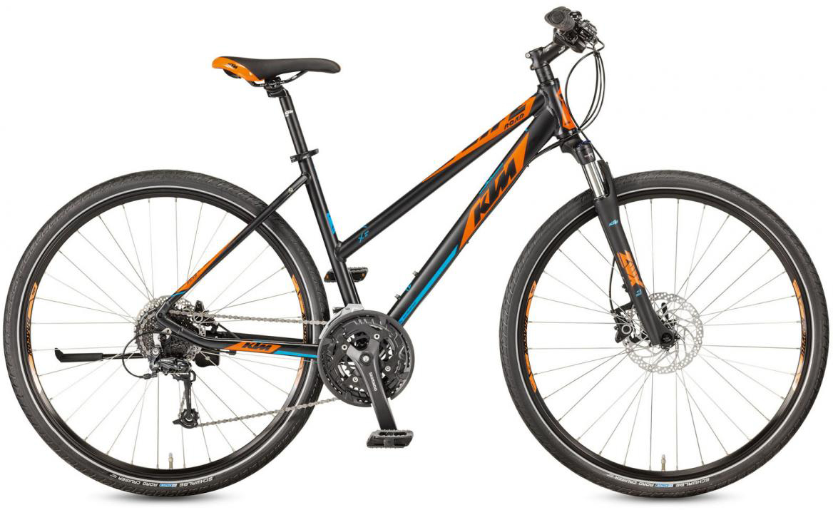 Велосипед городской KTM Life Road Disc-H Trapez 2017, цвет: черный, рама 18, колесо 28281905