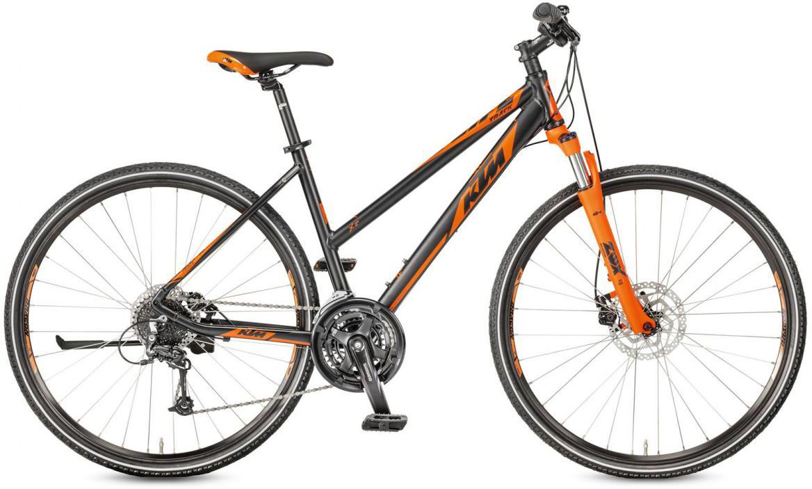 Велосипед городской KTM Life Track Disc-M Trapez 2017, цвет: черный, рама 22, колесо 28281921