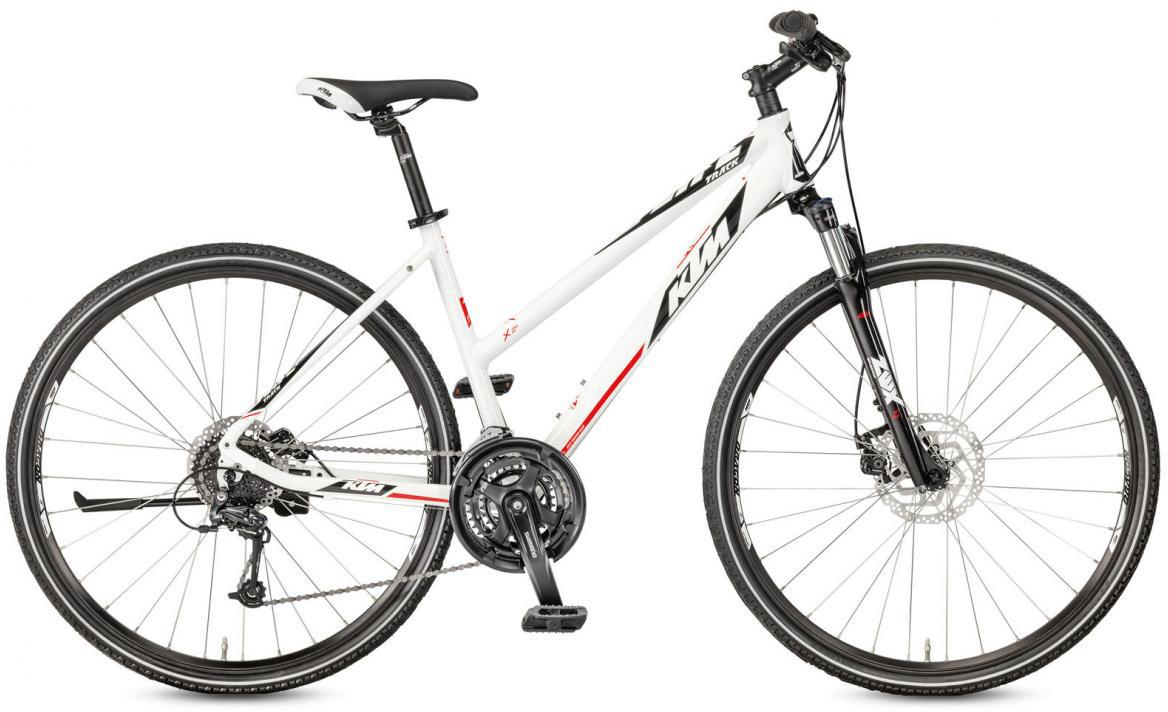 Велосипед городской KTM Life Track Disc-M Trapez 2017, цвет: белый, рама 18, колесо 28281923