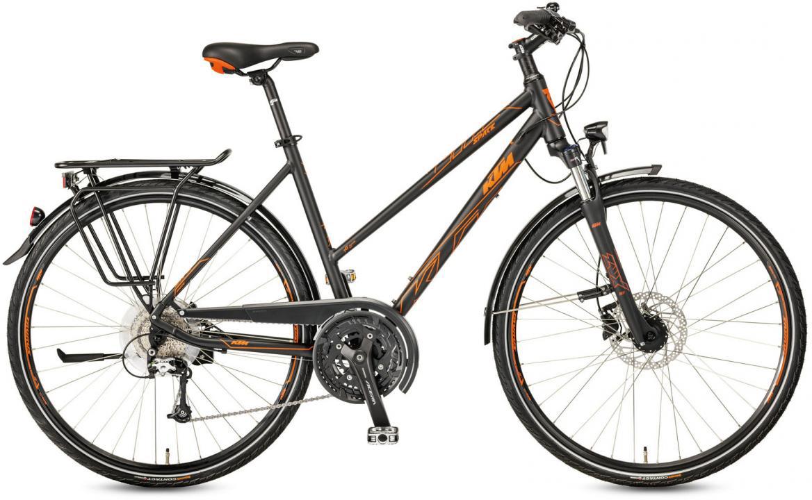 Велосипед городской KTM Life Space Trapez 2017, цвет: черный, рама 20, колесо 28281997