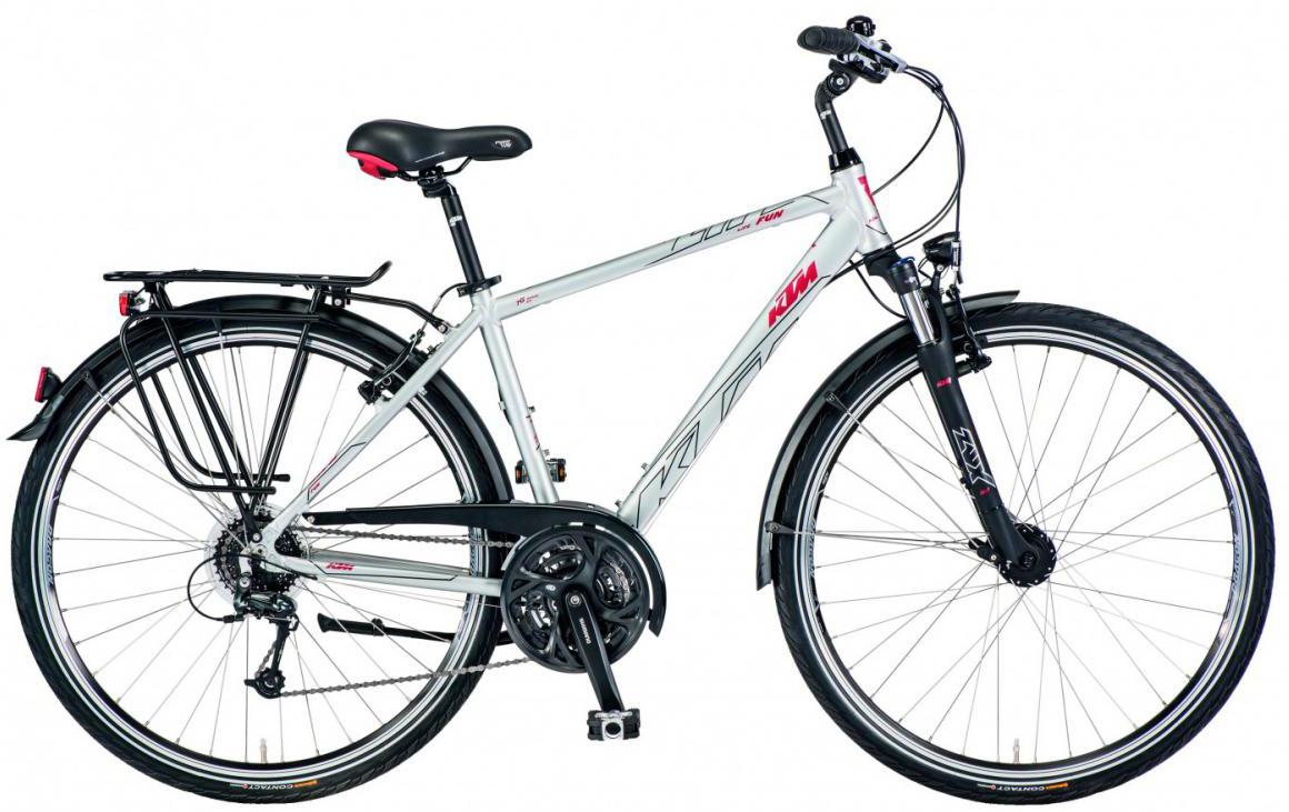 Велосипед городской KTM Life Fun 2017, цвет: серый, рама 23,5, колесо 28282007