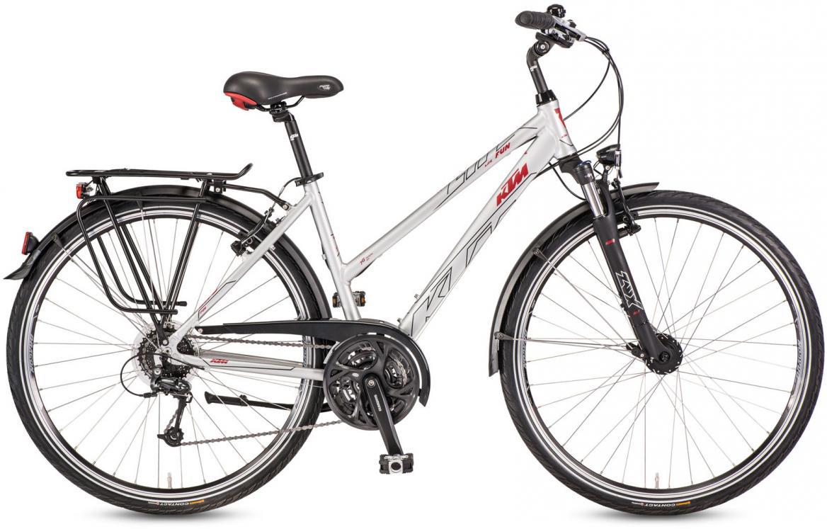 Велосипед городской KTM Life Fun Trapez 2017, цвет: серый, рама 18, колесо 28282012
