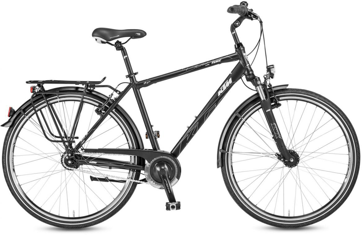 Велосипед городской KTM Life Time 8 LL 2017, цвет: черный, рама 20, колесо 28282027