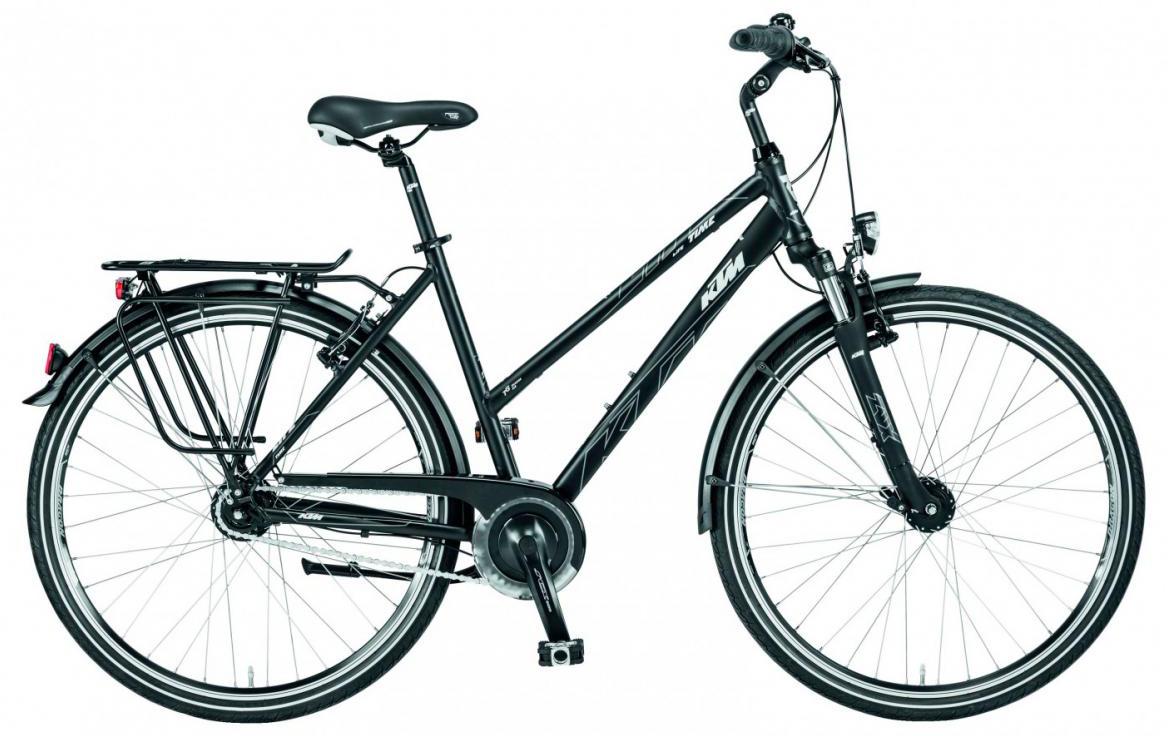 Велосипед городской KTM Life Time 8 LL Trapez 2017, цвет: черный, рама 20, колесо 28282030