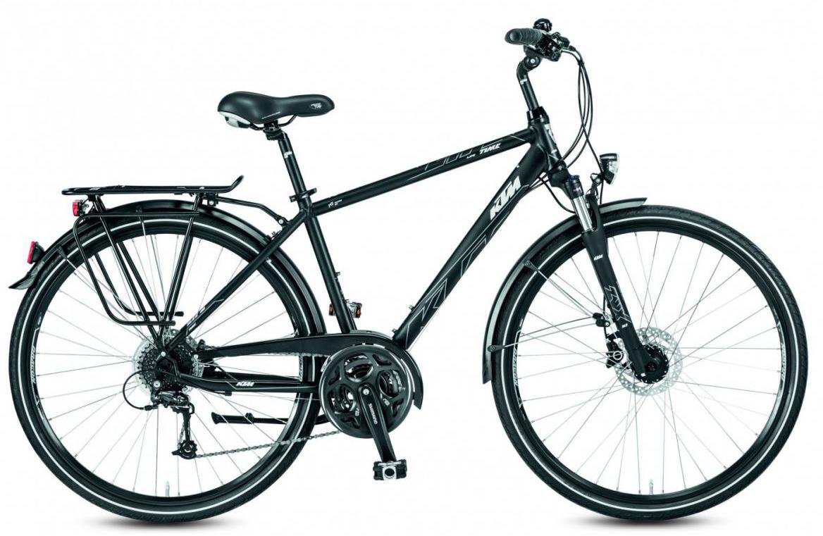 Велосипед городской KTM Life Time Disc 2017, цвет: черный, рама 25, колесо 28282037