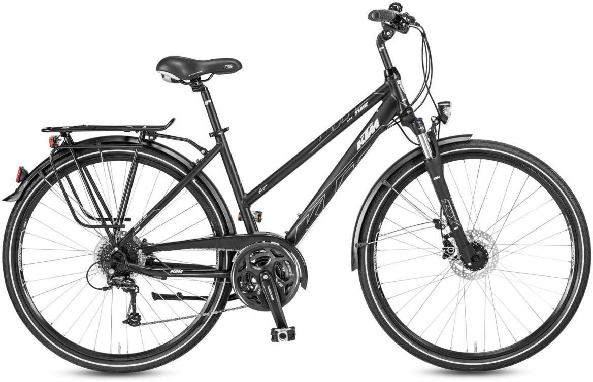 Велосипед городской KTM Life Time Disc Trapez 2017, цвет: черный, рама 18, колесо 28282038