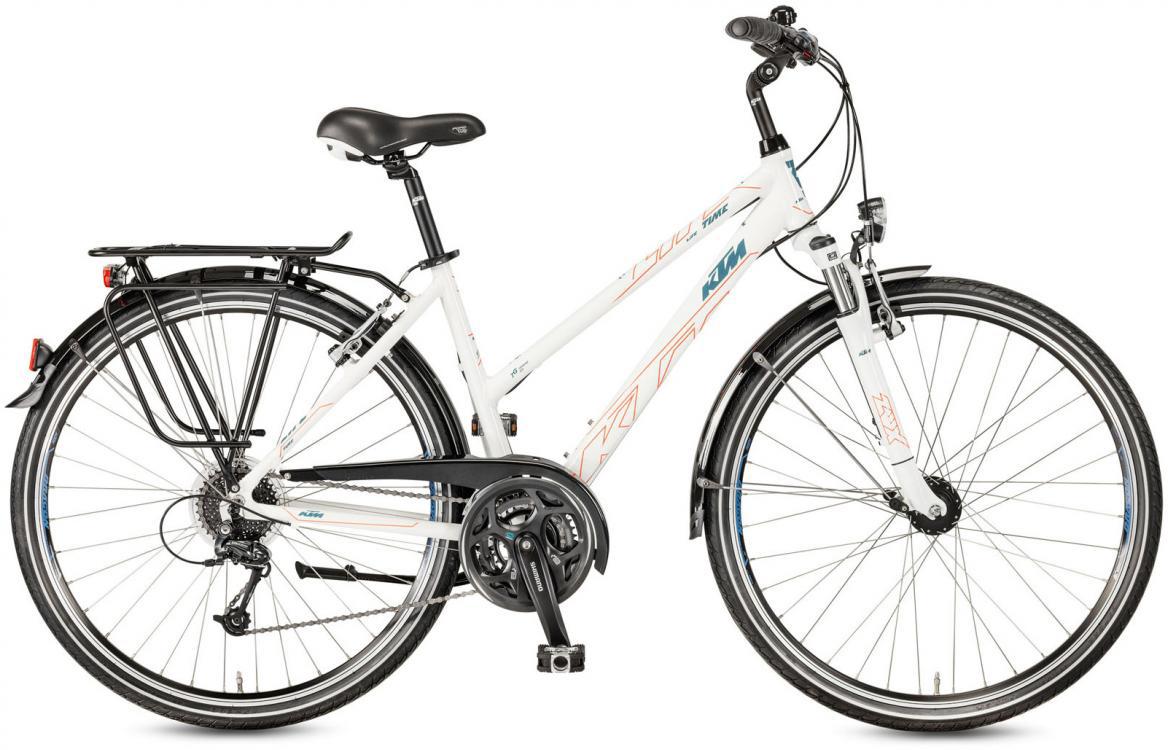 Велосипед городской KTM Life Time Trapez 2017, цвет: белый, рама 18, колесо 28282056