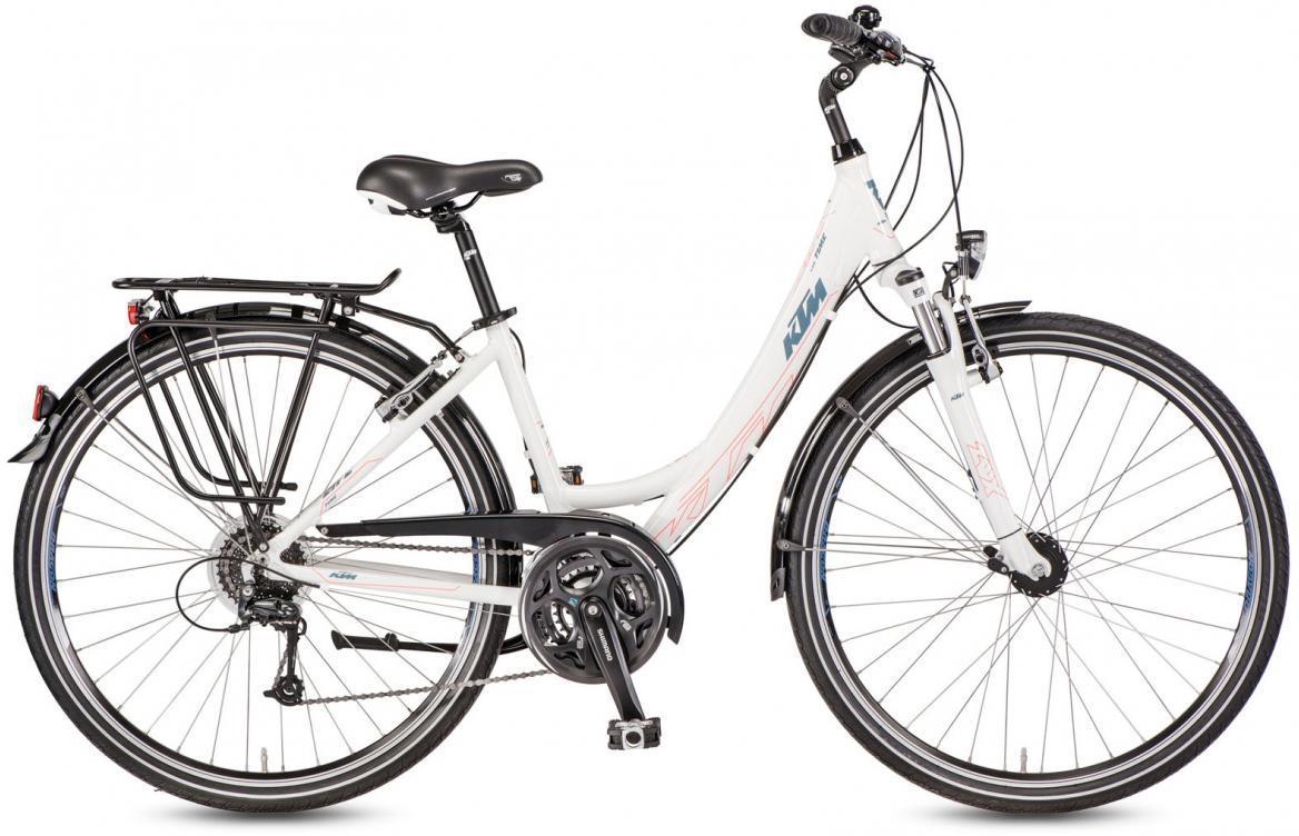 Велосипед городской KTM Life Time Wave 2017, цвет: белый, рама 18, колесо 28282071