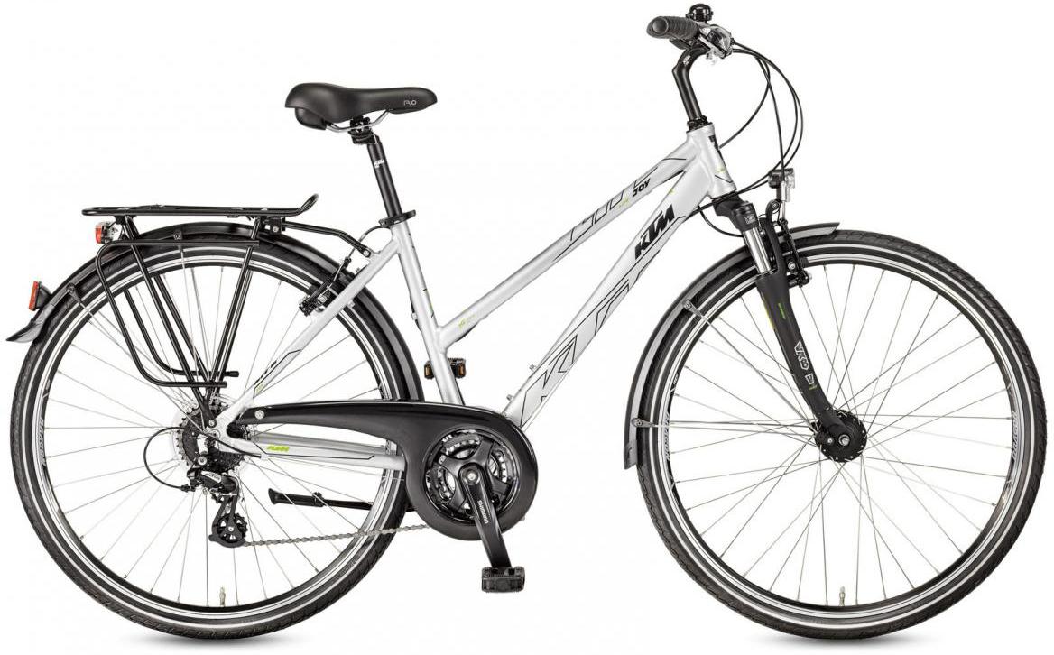 Велосипед городской KTM Life Joy Trapez 2017, цвет: серый, рама 22, колесо 28282087