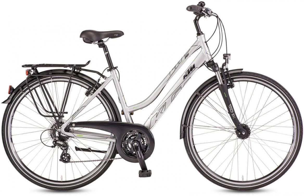 Велосипед городской KTM Life Joy Deep 2017, цвет: серый, рама 18, колесо 28282094