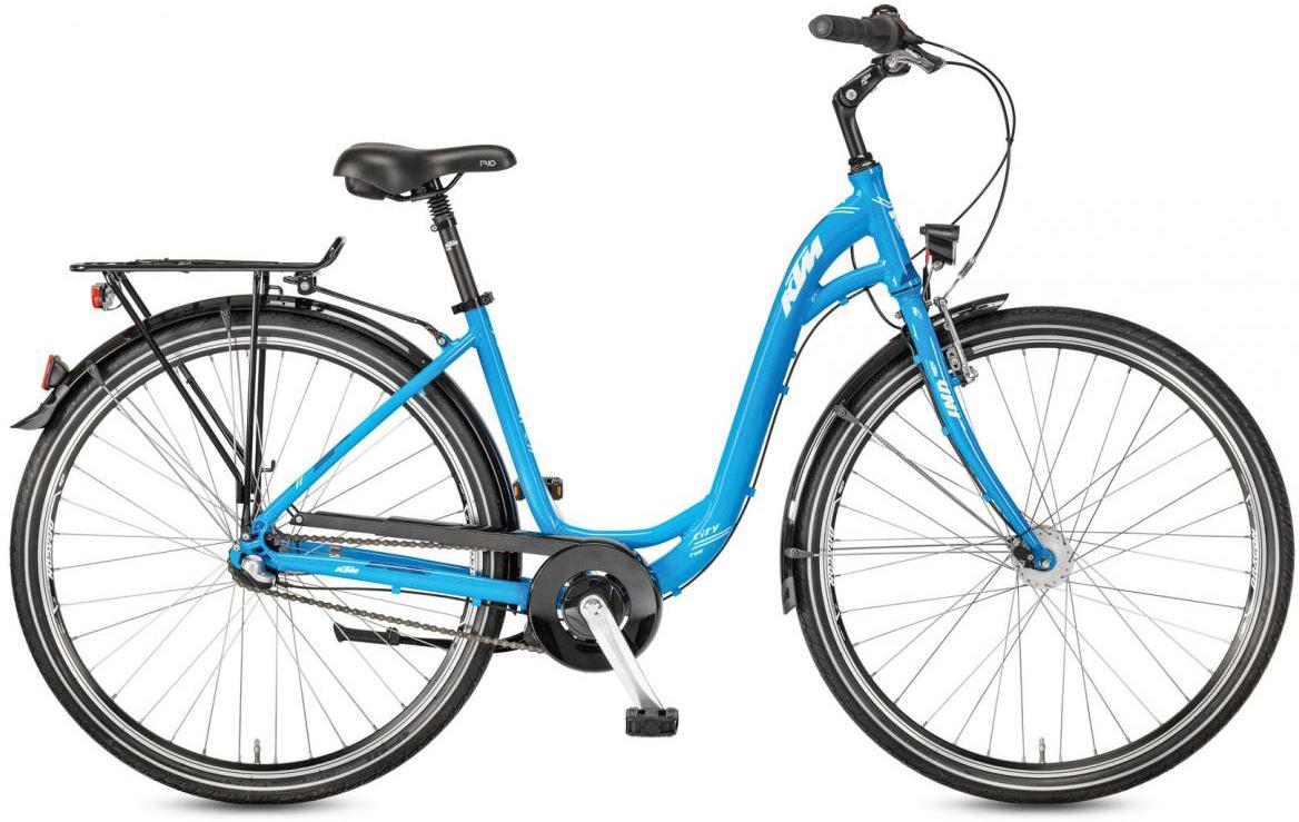 Велосипед городской KTM City Fun 28.3 2017, цвет: голубой, рама 18, колесо 28282129
