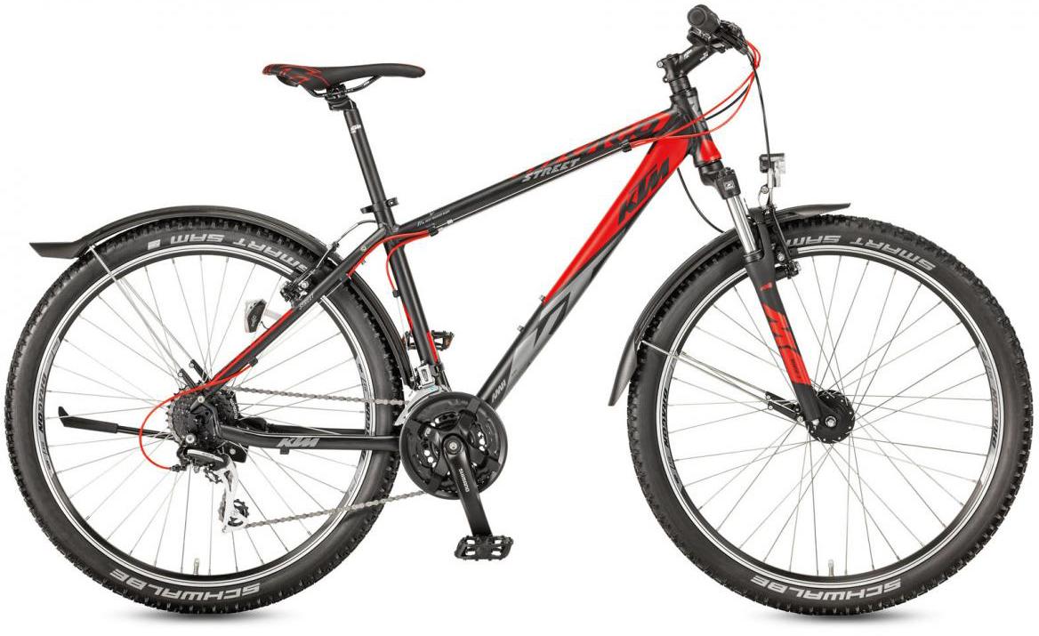 Велосипед горный KTM Chicago 27.24 Street 2017, цвет: черный, рама 17, колесо 27,5282167