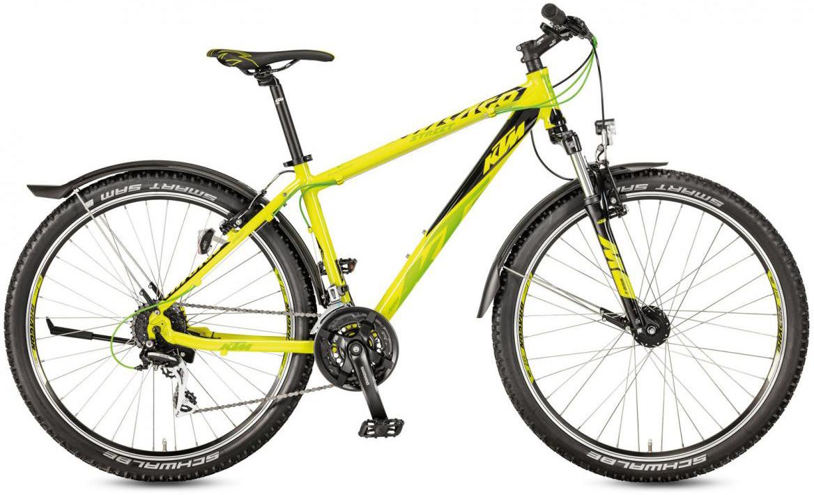 Велосипед горный KTM Chicago 27.24 Street 2017, цвет: желтый, рама 21, колесо 27,5282173
