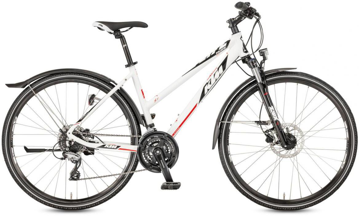 Велосипед городской KTM Life Track Street Trapez 2017, цвет: белый, рама 17, колесо 28282186