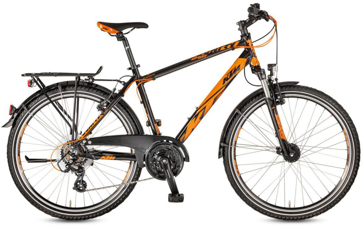 Велосипед горный KTM Country Sport 26.21 2017, цвет: черный, рама 14,5, колесо 26282190